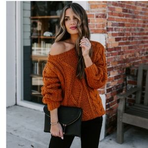 HILDA Cable Knit Sweater